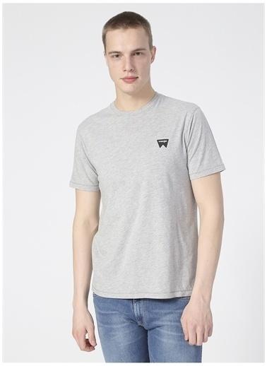 Wrangler Wrangler W7C07D337_Logo T-shirt  Gri